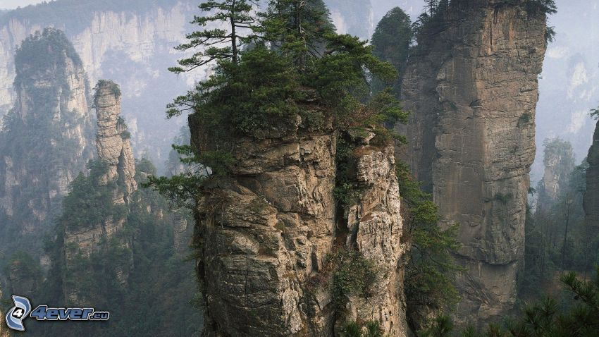 Wulingyuan, Kina, klippor