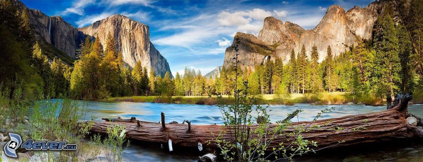 Yosemite National Park, El Capitan, flod