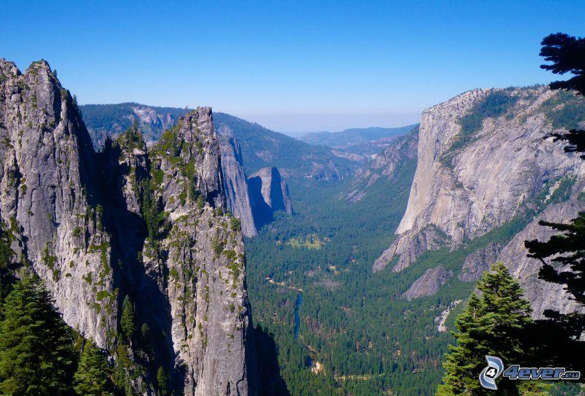 Yosemite Valley, utsikt över dal