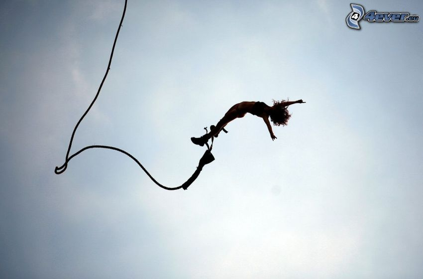 Bungee jumping, fritt fall