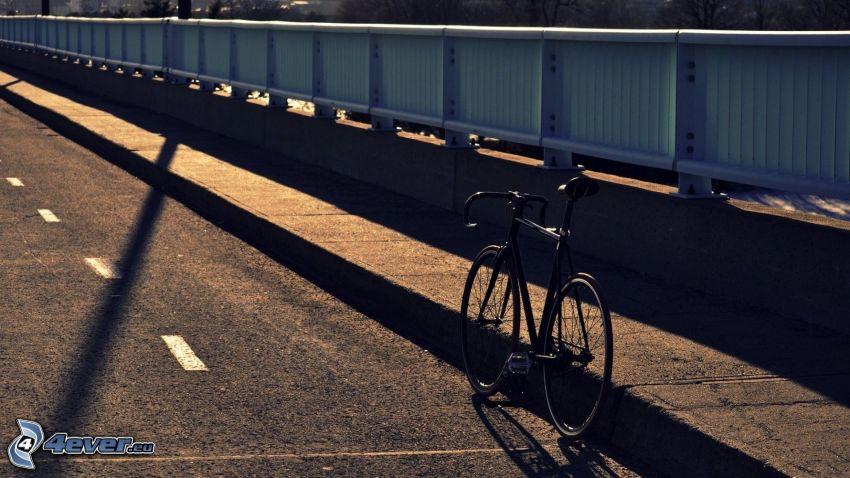cykel, bro