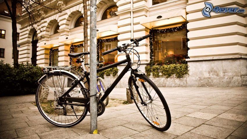 cykel, byggnad