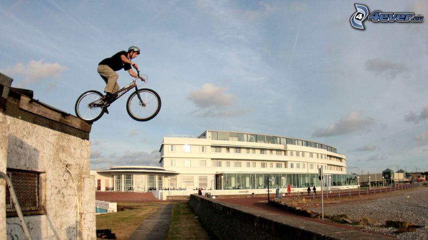 hopp på cykel, adrenalin