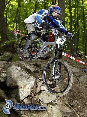 mountain biker, cyklist