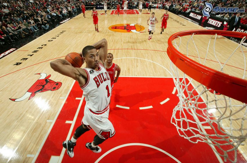 Derrick Rose, basket