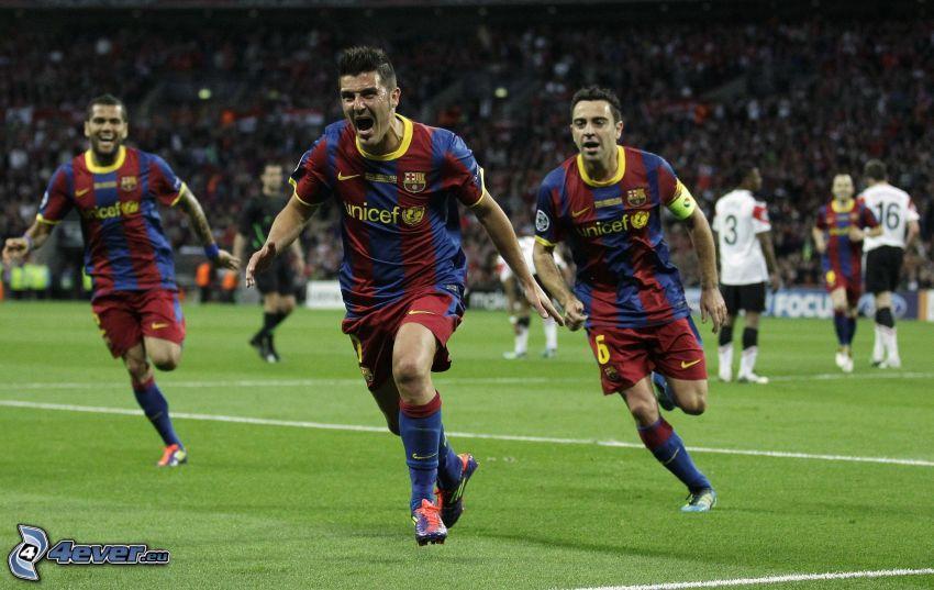 fotbollsspelare, glädje
