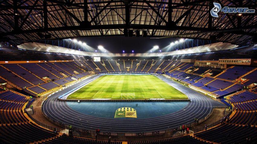 fotbollsstadion, lekplats