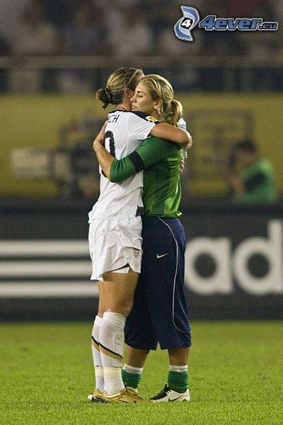idrottskvinnor, kram