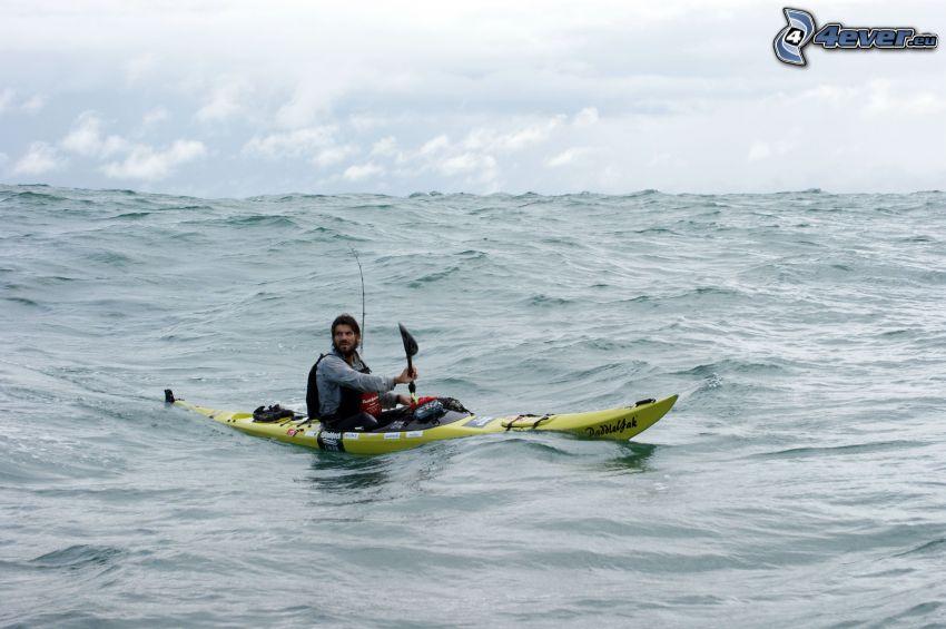 navigatör, båt, hav, ocean, vågor