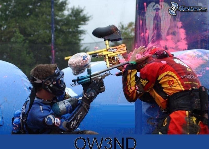 Paintball, sport, roligt, vapen