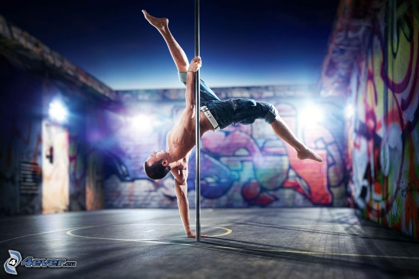 pole dance, graffiti