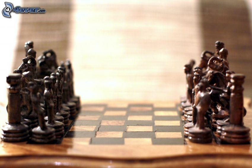 schack, schackpjäser, schackbräda