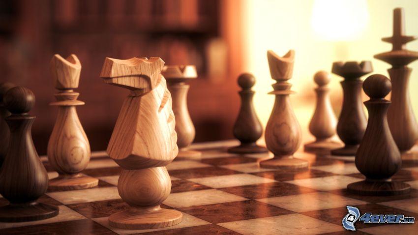 schack, schackpjäser