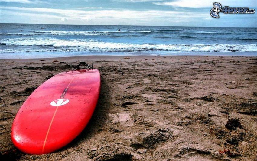surf, sandstrand, hav
