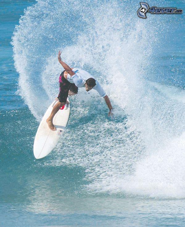 surfare, vatten, surf, våg