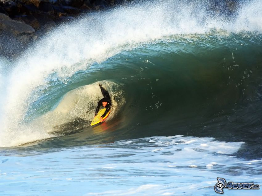 surfing, våg