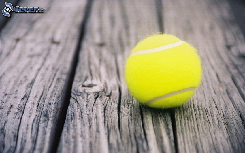 tennisboll, trä