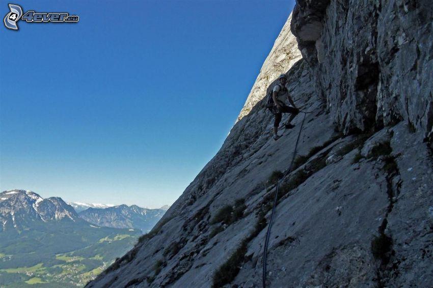 Totes Gebirge, bergsklättrare, utsikt