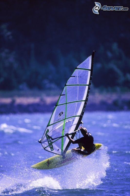 vatten, surf