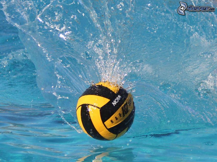 vattenpolo, boll, plask