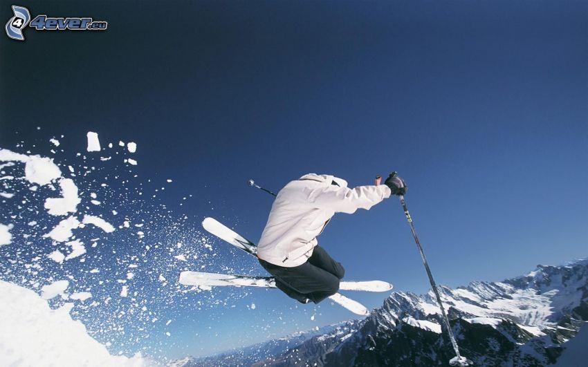 extrem skidåkning, skidhopp