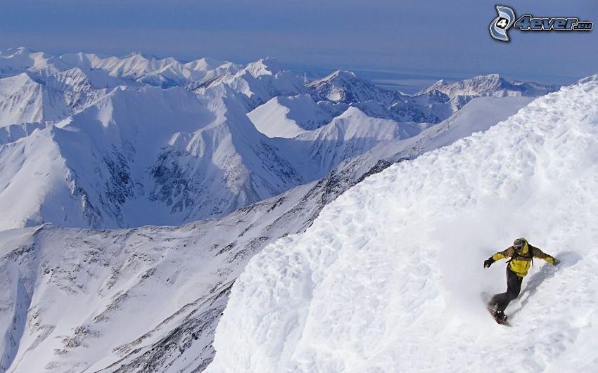 extrem snowboardåkning, berg