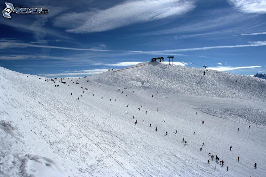skidort, skidåkning, snö