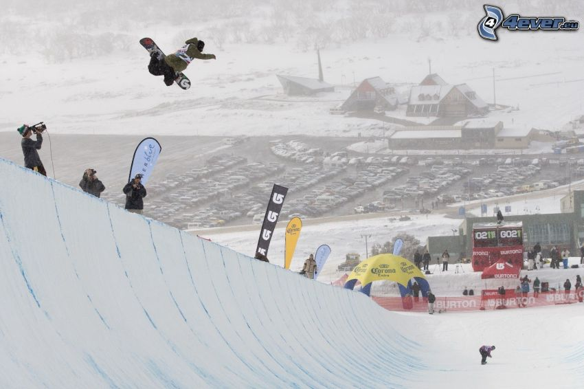 snowboarding, hopp