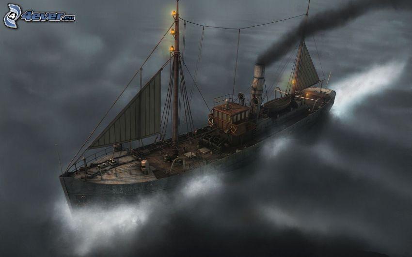 ångbåt, båt