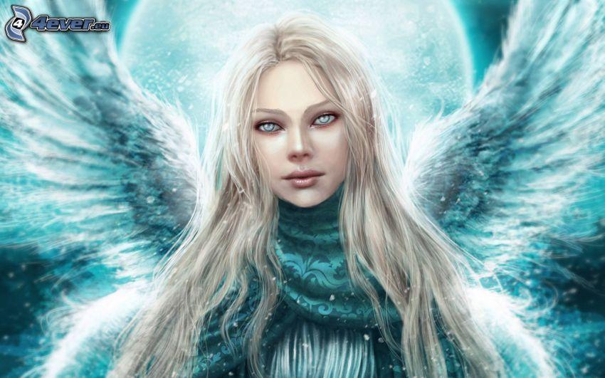 ängel, blondin