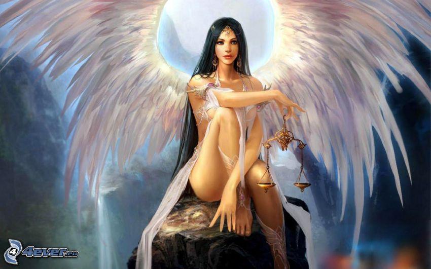 ängel, våg