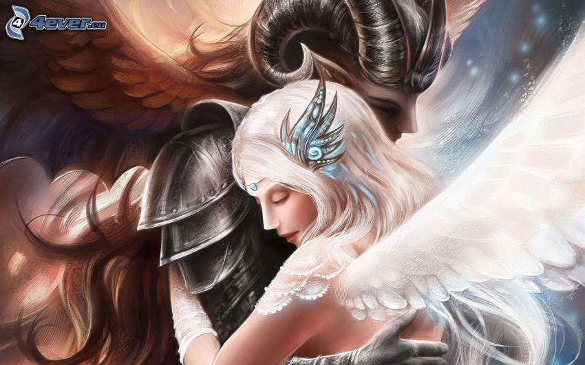 ängel och djävul, kärlek