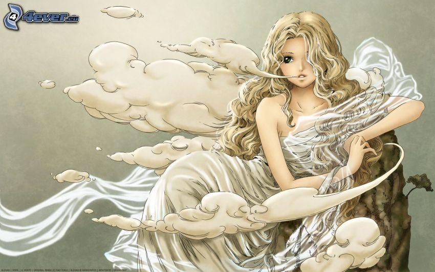 anime flicka, ängel