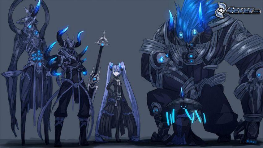 anime flicka, monster