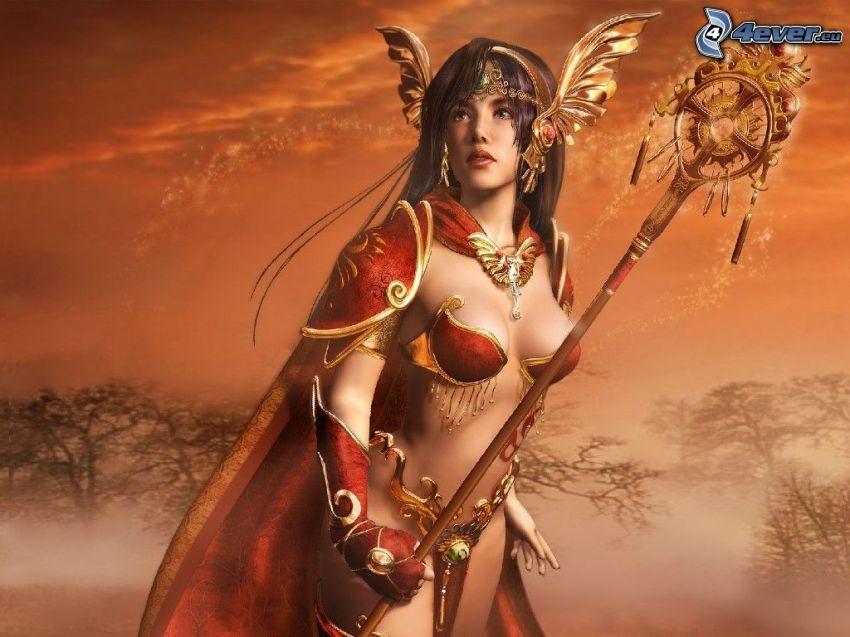 fantasy krigerska, kvinna