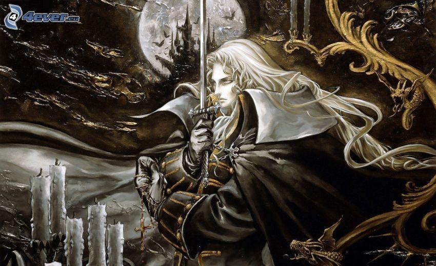 fantasy kvinna, svärd