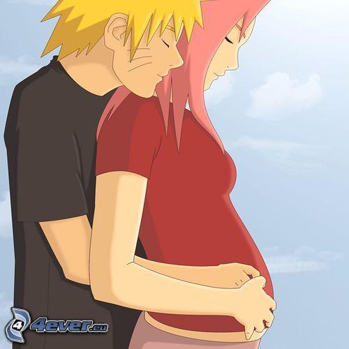 Naruto, Sakura, kärlek, gravid kvinna
