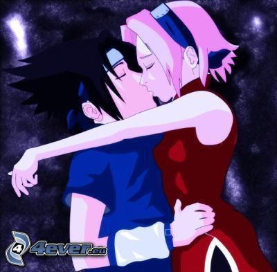 Sasuke & Sakura, seriefigurer, anime
