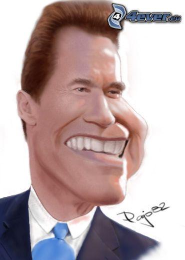 Arnold Schwarzenegger, krikatur