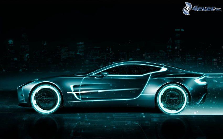 Aston Martin, neon