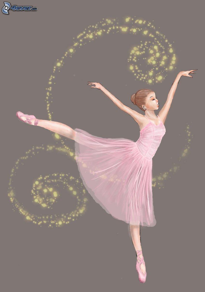 balettdansös, prickar