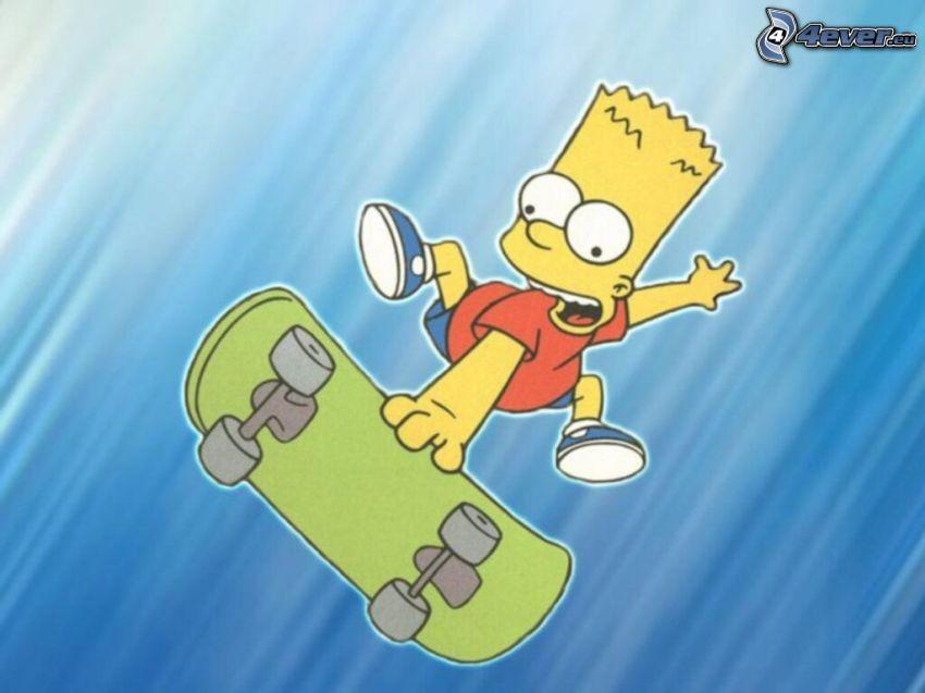 Bart Simpson, skate
