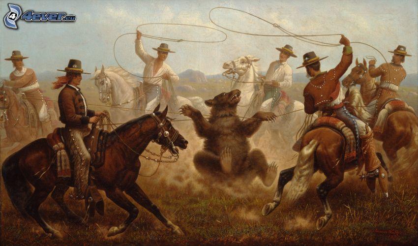björn, cowboys, lasso