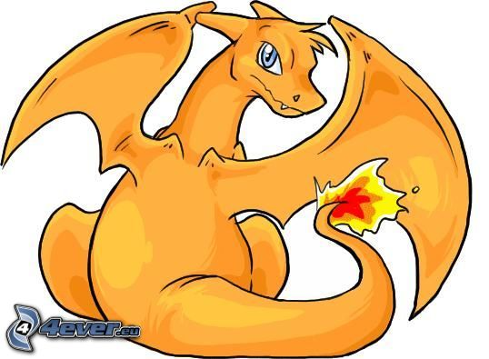 Charizard, Pokémon, tecknad drake