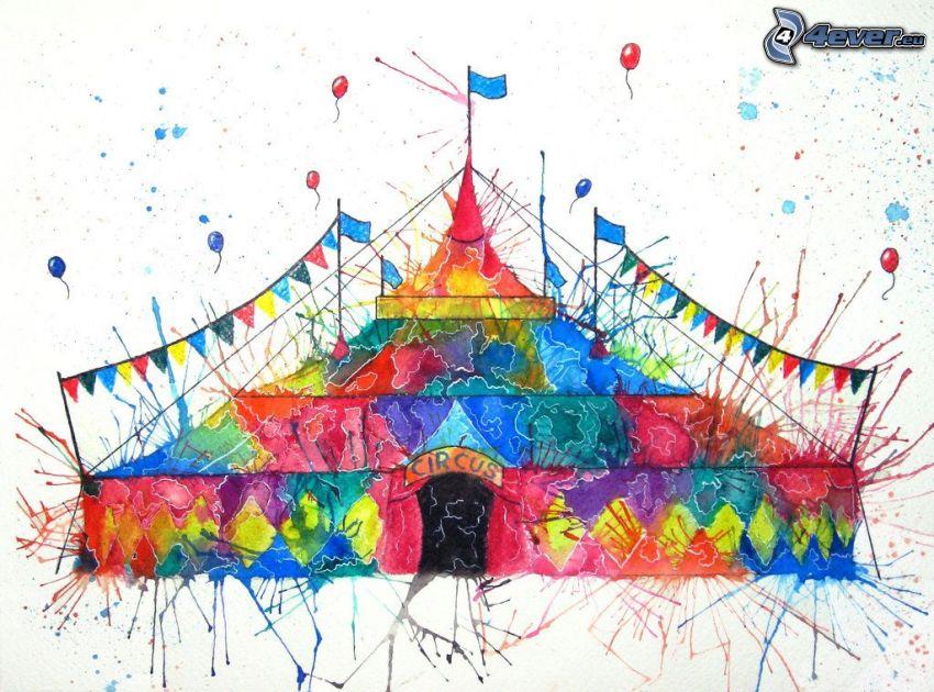 cirkus, färger