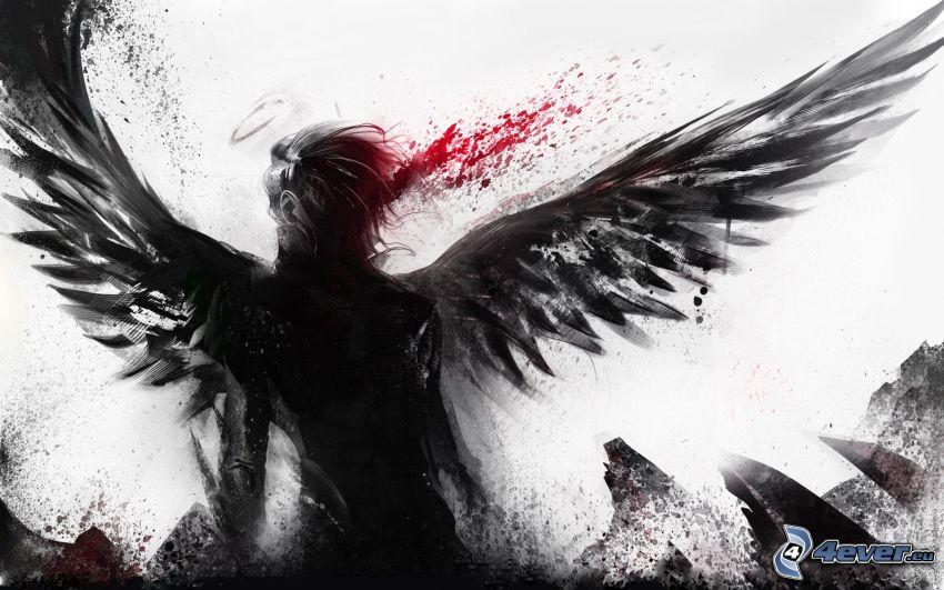 mörk ängel