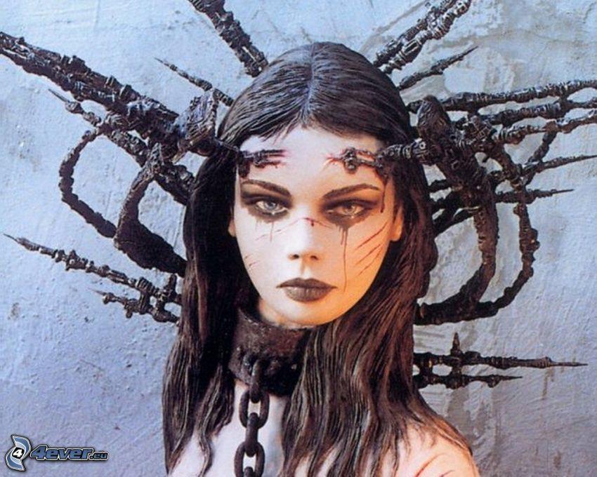mörk flicka, fantasy, gothic, Luis Royo