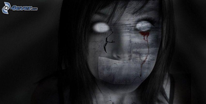 spöklik figur