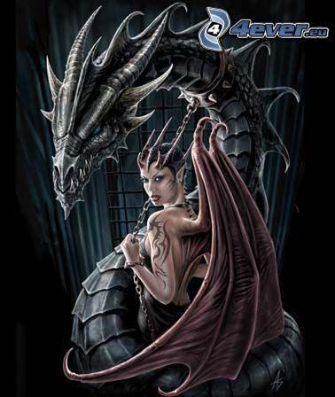 svart drake, djävulinna