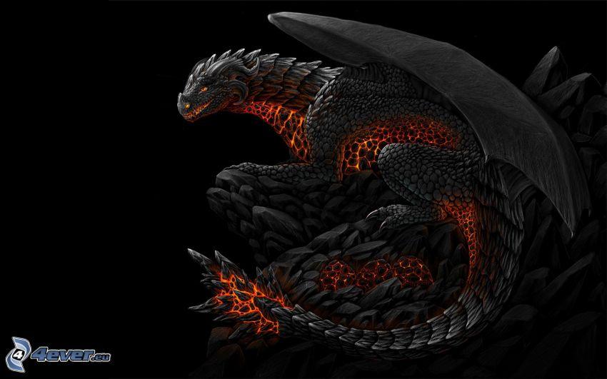 svart drake